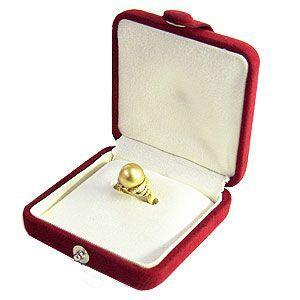 パールリングケース パールキーパー 真珠指輪 ケース 赤 真珠科学研究所が開発監修|shinjunomori