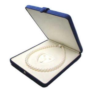 真珠 ネックレス ピアスまたはイヤリング 指輪ケース 紺 パールキーパー 真珠科学研究所が開発監修|shinjunomori