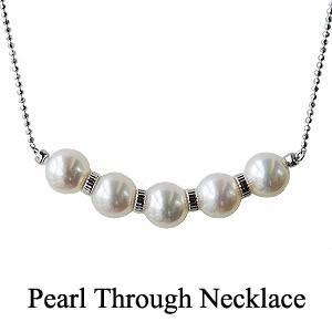 パールネックレス 真珠ネックレス スルーネックレス あこや本...