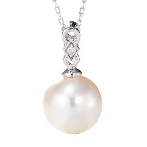 K18WG ゴールド ダイヤモンド ダイヤ ネックレス ペンダント パール 真珠 本真珠 花珠真珠 あこや 8.5mm pn33570a85b 冠婚葬祭|shinjunomori