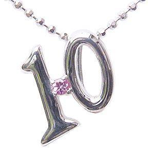 ピンクトルマリン K18 ホワイトゴールド ペンダントトップ ラッキーナンバー10 一粒 10月誕生石 ネックレス|shinjunomori