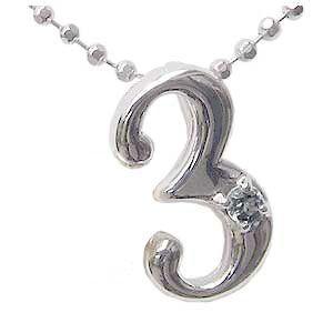一粒 ラッキーナンバー3 ペンダントトップ ネックレス K18 ホワイトゴールド アクアマリン 3月誕生石|shinjunomori