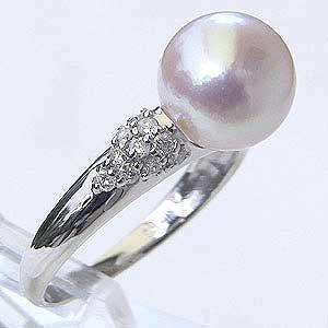 真珠 指輪 パール リング あこや本真珠 キュービックジルコニア CZ シルバー silver 冠婚...