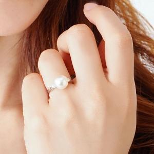 真珠の指輪 パール 指輪 リング 真珠 アコヤ真珠 あこや真珠 プラチナ ダイヤモンド 40代 50代 60代 冠婚葬祭|shinjunomori|02
