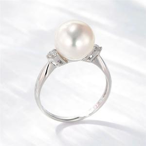 真珠の指輪 パール 指輪 リング 真珠 アコヤ真珠 あこや真珠 プラチナ ダイヤモンド 40代 50代 60代 冠婚葬祭|shinjunomori|03