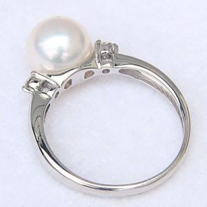 真珠の指輪 パール 指輪 リング 真珠 アコヤ真珠 あこや真珠 プラチナ ダイヤモンド 40代 50代 60代 冠婚葬祭|shinjunomori|04