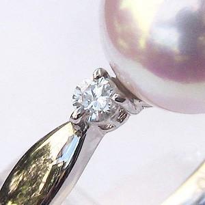 真珠の指輪 パール 指輪 リング 真珠 アコヤ真珠 あこや真珠 プラチナ ダイヤモンド 40代 50代 60代 冠婚葬祭|shinjunomori|05
