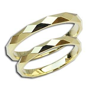 ペアリング マリッジリング 地金リング シンプル 指輪 K18 ゴールド デザインカットリング 結婚指輪 プレゼント 記念日 shinjunomori