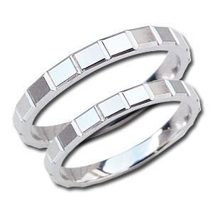 ペアリング シンプル 指輪 結婚指輪 マリッジリング 地金リング PT900 プラチナ デザインカットリング プレゼント 記念日 shinjunomori