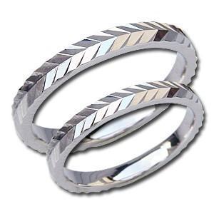 結婚指輪 PT900 プラチナ ペアリング シンプル 指輪 マリッジリング 地金リング デザインカットリング プレゼント 記念日 shinjunomori