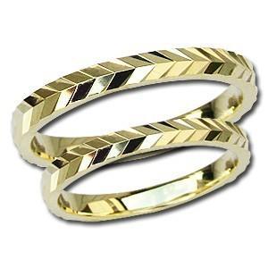 マリッジリング ペアリング 結婚指輪 地金リング 指輪 K18 ゴールド シンプル デザインカットリング 記念日 プレゼント shinjunomori
