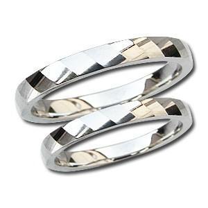 マリッジリング 結婚指輪 PT900 プラチナ ペアリング シンプル 指輪 地金リング デザインカットリング プレゼント 記念日 shinjunomori