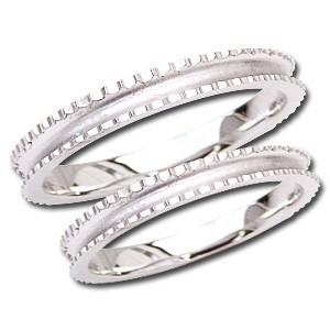 ペアリング シンプル デザインカットリング マリッジリング 地金リング シンプル 指輪 PT900 プラチナ 結婚指輪 プレゼント 記念日 shinjunomori