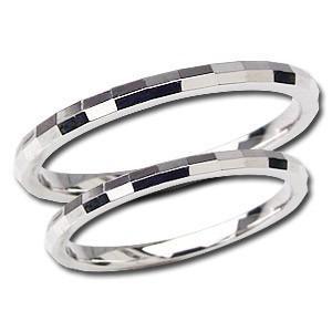 結婚指輪 マリッジリング ペアリング プレゼント 記念日 シンプル 指輪 PT900 プラチナ デザインカットリング 地金リング シンプル shinjunomori