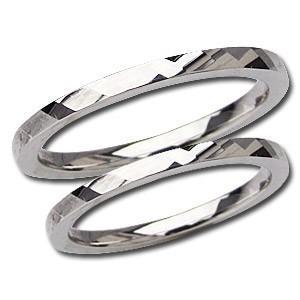 シンプル ペアリング 結婚指輪 マリッジリング プレゼント 記念日 指輪 PT900 プラチナ デザインカットリング 地金リング shinjunomori