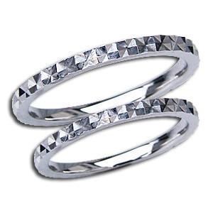 ペアリング 結婚指輪 プレゼント 記念日 シンプル デザインカットリング マリッジリング 地金リング シンプル 指輪 PT900 プラチナ shinjunomori