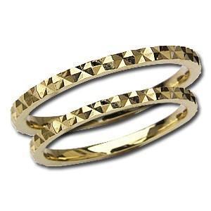 結婚指輪 マリッジリング 記念日 ペアリング プレゼント シンプル デザインカットリング 指輪 K18 ゴールド 地金リング shinjunomori