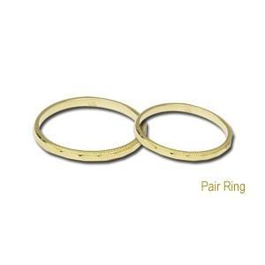 ペアリング プレゼント 結婚指輪 マリッジリング 記念日 シンプル デザインカットリング 指輪 K18 ゴールド 地金リング|shinjunomori|02
