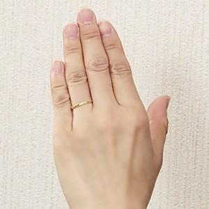 ペアリング プレゼント 結婚指輪 マリッジリング 記念日 シンプル デザインカットリング 指輪 K18 ゴールド 地金リング|shinjunomori|03