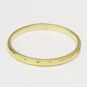ペアリング プレゼント 結婚指輪 マリッジリング 記念日 シンプル デザインカットリング 指輪 K18 ゴールド 地金リング|shinjunomori|04