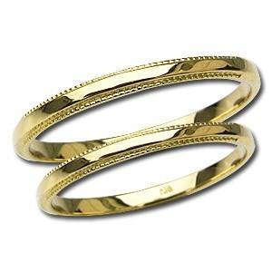 マリッジリング デザインカットリング ペアリング プレゼント 結婚指輪 記念日 シンプル 指輪 K18 ゴールド 地金リング shinjunomori