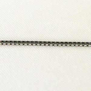 チェーン K18WGホワイトゴールド ライトベネチアン0.8mmチェーン 45cm スライド式|shinjunomori