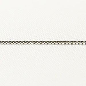 チェーン K18WGホワイトゴールド ライトベネチアン0.7mmチェーン 45cm スライド式|shinjunomori