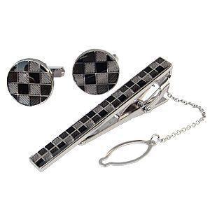 カフスボタン タイバー タイピン セット silver シルバー レディース|shinjunomori