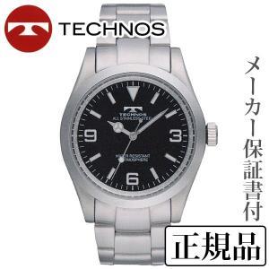 TECHNOS テクノス オールステンレス 男性用 クオーツ アナログ 腕時計 正規品 1年保証書付 tsm208sb|shinjunomori