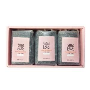 炭なでしこ (90g) 3個セット 〜ローズの香りが入った竹炭せっけん〜|shinken-club