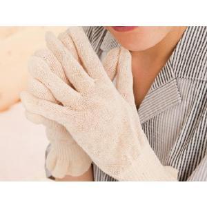 麻福ヘンプ 「おやすみ手袋」 (べんがら手染め 生成)|shinken-club