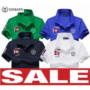SIN&KEN ゴルフシャツ メンズ ポロシャツ ゴルフウェア 服 半袖ポロ カジュアル p...
