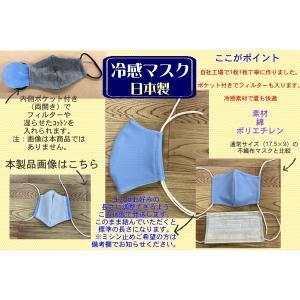 冷感マスク 日本製 夏用マスク ポケット付き 1002