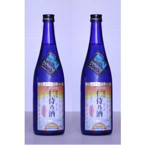 ハワイ純米吟醸酒 銘柄:仁侍乃酒(にじのさけ)ハワイ水仕込み 無濾過原酒 720ml 2本 アルコール15度 |shinoku-store