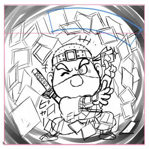スーパーわくわく企画 メルファン絵師、あだち氏、描く Wシール(紙×角プリ)|shinoku-store