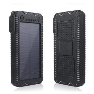 モバイルバッテリー ソーラー 充電器 12000mAh|shinpei00001