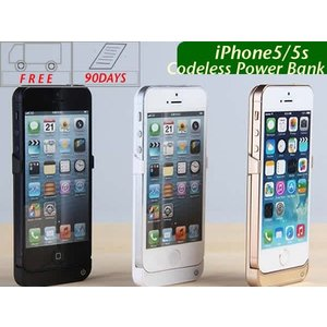 大容量 iPhone5/5s専用 モバイルバッテリー コードレス 充電器 ポータブル 白・黒・金三色 スマホ|shinpei00001
