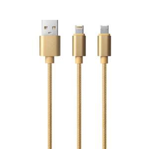 【 Lightnin USB と Micro USB がこの一本に 】 ライトニン グ USBケーブル Micro USBケーブル|shinpei00001