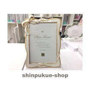 フォトフレーム サービスL判 リボンフレームホワイト写真立 FC87679 商品代引不可ポイント消化 Z shinpukue-shop