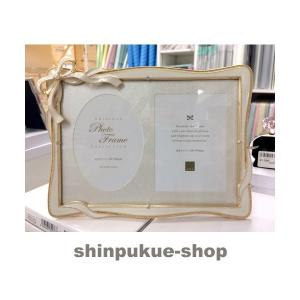 フォトフレーム リボンフレーム/キャビネット ホワイト写真立 FC87682 商品代引不可ポイント消化 Z shinpukue-shop