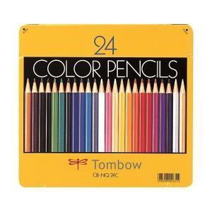 トンボ鉛筆 色鉛筆 CB-NQ24C 24色 缶入(ポイント消化)Z