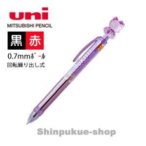 ハローキティ 2色ボールペン  紫 SE2−353KTSN 三菱鉛筆 商品代引不可ポイント消化 Z|shinpukue-shop