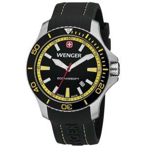 Wenger Sea Force(シーフォース) ブラック×イエロー ウェンガー 200m防水|shins