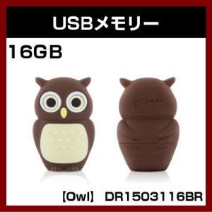 USBメモリー (Owl) DR1503116BR  (16GB) (Bone Collection)|shins
