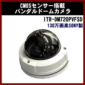 防犯カメラ 屋外 (ITR-DM720PVFSD) 130万画素SONY製CMOSセンサー搭載 バンダルバリフォーカルレンズ搭載 SD録画機能付き ドームカメラ|shins