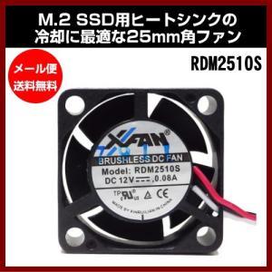 RDM2510S M.2 SSD用ヒートシンクの冷却に最適な25mm角ファン 長尾製作所 shins