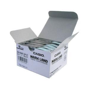 カシオ ネームランドテープ 5巻パック XR-9WE-5P-E