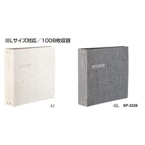 【取寄】セキセイ フォトバインダー 高透明 1008枚収容 リネン XP-3238-42 shinsen-b0919