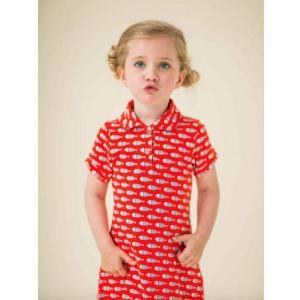 ベルギー 子供服 Lily Balou リリーバロウ ワンピース 女の子 ドレス fish柄 オーガニックコットン 可愛い 北欧|shinshinnet