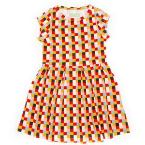ベルギー 子供服 Lily Balou リリーバロウ ワンピース 女の子 ドレス block柄 オーガニックコットン 可愛い 北欧|shinshinnet